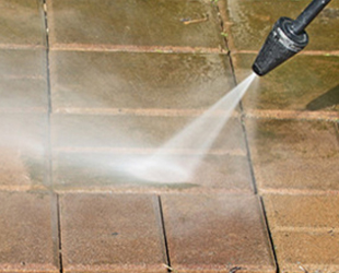Power Washing brick walkway
